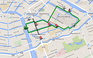 Thumbnail map of Artis Zoo area and Entrepotdok Walk in Amsterdam