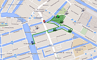 Thumbnail map of Hortus Botanicus and surrounding area Walk in Amsterdam