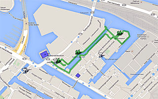 Thumbnail map of Maritime Museum and Oosterkerk Area Walk Amsterdam